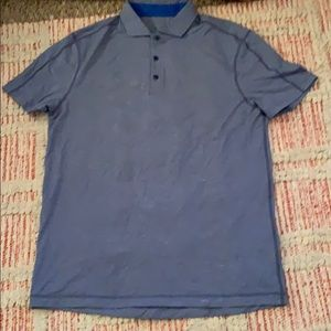 Men's LULULEMON Blue Polo Short sleeve Short XL